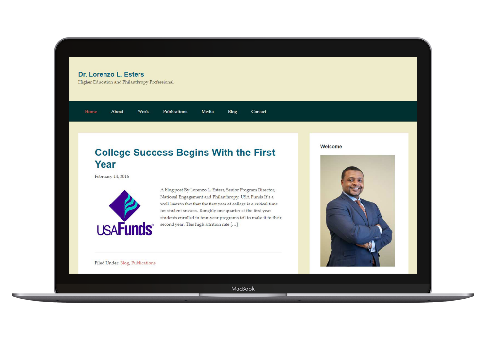 Academic leaderships create unbiased online presence with mobile-ready, online persona management websites that keeps pace with their busy professional lives